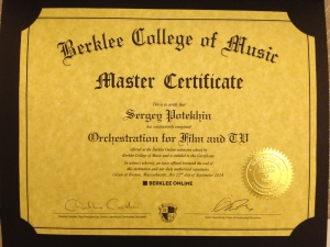Berklee's Master Sertificate